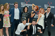 "Cast of ""Dance with the star"" poses at a photocall for the TV series 'Dance with the star' during the 55th Monte Carlo TV Festival on June 13, 2015 in Monte-Carlo, Monaco"