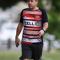 John Hooper (Masseur) of the Cell C Sharks during the cell c sharks training session and Press Con at Jonsson Kings Park Stadium,Durban.South Africa. 10,05,2018 Photo by Steve Haag)