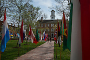 Students, community members and visitors to campus were able to take in the flags that lined College Green during the International Street Fair on Saturday, April 18, 2015.  Photo by Ohio University  /  Rob Hardin