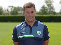 German Soccer Bundesliga 2015/16 - Photocall of VfL Wolfsburg on 16 July 2015 at the Volkswagen-Arena in Wolfsburg, Germany: coach Dieter Hecking