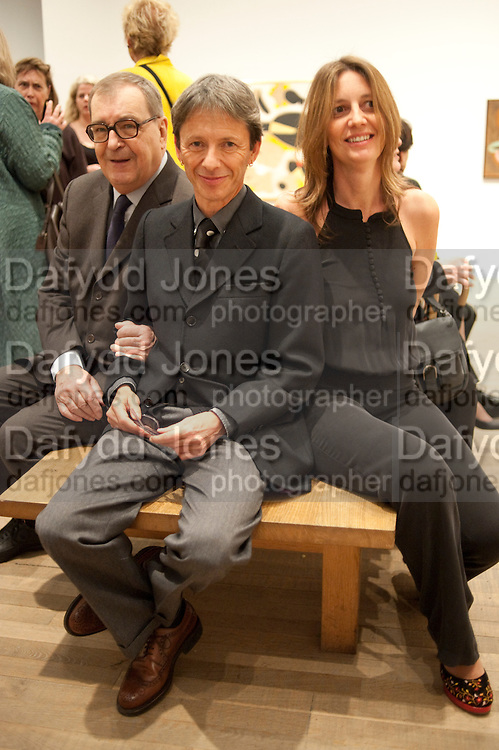 DANIEL; LELOLG; EMILIO FERNANDEZ MIRO; FRANCISCA PUIG, Joan Mir—: The Ladder of Escape. Tate Modern. London. 12 April 2011. -DO NOT ARCHIVE-© Copyright Photograph by Dafydd Jones. 248 Clapham Rd. London SW9 0PZ. Tel 0207 820 0771. www.dafjones.com.<br /> DANIEL; LELOLG; EMILIO FERNANDEZ MIRO; FRANCISCA PUIG, Joan Miró: The Ladder of Escape. Tate Modern. London. 12 April 2011. -DO NOT ARCHIVE-© Copyright Photograph by Dafydd Jones. 248 Clapham Rd. London SW9 0PZ. Tel 0207 820 0771. www.dafjones.com.