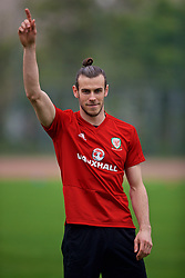 NANNING, CHINA - Sunday, March 25, 2018: Wales' Gareth Bale during a training session at the Guangxi Sports Centre ahead of the 2018 Gree China Cup International Football Championship final match against Uruguay. (Pic by David Rawcliffe/Propaganda)