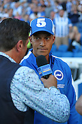 Bobby Zamora of Brighton & Hove Albion during the Sky Bet Championship match between Brighton and Hove Albion and Nottingham Forest at The American Express Community Stadium, Brighton and Hove, England on 7 August 2015. Photo by Phil Duncan.