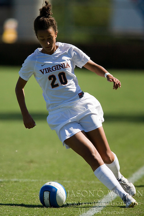 Virginia Cavaliers M/F Kika Toulouse (20)..The Virginia Cavaliers women's soccer team defeated the Arizona Wildcats 4-0 in the 2007 Nike Soccer Classic at Klockner Stadium in Charlottesville, VA on September 16, 2007.  The Cavaliers won the tournament with a record of 2-0-0.