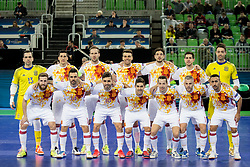 National team Spain during futsal match between National teams of Ukraine and Portugal at Day 6 of UEFA Futsal EURO 2018, on February 4, 2018 in Arena Stozice, Ljubljana, Slovenia. Photo by Urban Urbanc / Sportida