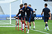 PARIS, FRANCE - JUNE 09: (CHINA OUT) <br /> <br /> Andre Gignac of France attends a training session on the eve of the beginning of the Euro 2016 European football championships football match against Romania at Stade de France stadium on June 9, 2016 in Saint-Denis near Paris, France. <br /> ©Exclusivepix Media