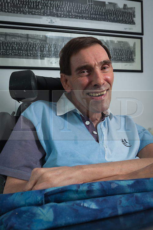 "© Licensed to London News Pictures File pic dated 15/10/2011. Melksham, UK. Portrait of Tony Nicklinson at his home in Melksham near Bath in October 2011. Mr Nicklinson suffered from ""Locked in Syndrome"" after having a stroke in 2005. Tony fought for his right to end his own life and after finally losing his case in the High Court to allow doctors to end his life refused all food starved himself to death in August 2012. Photo Credit : Stephen Shepherd/LNP"