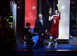 September 30, 2018 - Turin, Italy - Poland v Brazil - FIVP Men's World Championship Final.Michal Kubiak captain of Poland with the trophy at Pala Alpitour in Turin, Italy on September 30, 2018. (Credit Image: © Matteo Ciambelli/NurPhoto/ZUMA Press)