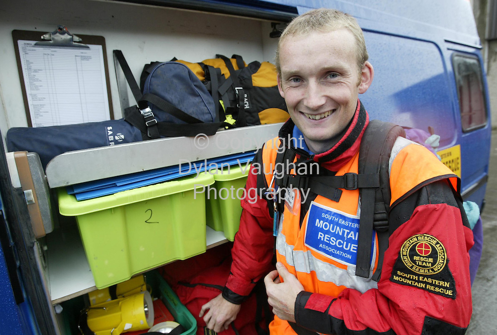 14/10/2002 Evening Herald.Liam McCabe of the South Eastern Mountain Rescue pictured in Kilkenny..Picture Dylan Vaughan
