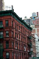 New York, New York City.7th Avenue building.