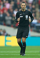 Referee Mark Clattenburg during the FA Cup Final at Wembley Stadium, London<br /> Picture by Alan Stanford/Focus Images Ltd +44 7915 056117<br /> 21/05/2016