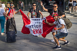 June 23, 2018 - Moscou, Moscow region, Russia - Football fans from Peru in Moscow at the world Cup 2018  (Credit Image: © Aleksei Sukhorukov via ZUMA Wire)