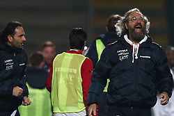 November 12, 2017 - Teramo, TE, Italy - Giovanni Pagliari head coach of A.S. Gubbio 1910 celebrate the goal of 1-1 during the Lega Pro 17/18 group B match between Teramo Calcio 1913 and AS Gubbio 1910 at Gaetano Bonolis stadium on November 12, 2017 in Teramo, Italy. (Credit Image: © Danilo Di Giovanni/NurPhoto via ZUMA Press)