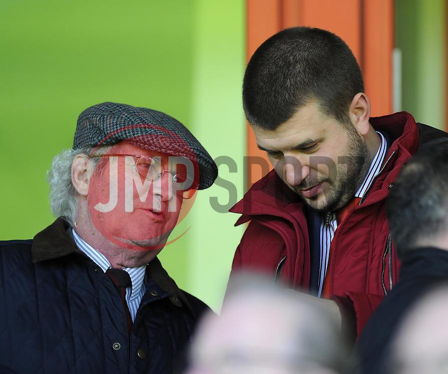 L - R - Chairman Keith Dawe and Vice Chairman Jon Lansdown  - Photo mandatory by-line: Joe Meredith/JMP - Mobile: 07966 386802 12/04/2014 - SPORT - FOOTBALL - Walsall - Banks' Stadium - Walsall v Bristol City - Sky Bet League One