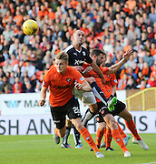 Dundee United's Coll Donaldson clears from Dundee's James McPake - Dundee United v Dundee at Tannadice<br /> - Ladbrokes Premiership<br /> <br />  - &copy; David Young - www.davidyoungphoto.co.uk - email: davidyoungphoto@gmail.com
