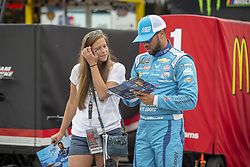 July 21, 2018 - Loudon, New Hampshire, United States of America - Darrell Wallace, Jr (43) gets ready to practice for the Foxwoods Resort Casino 301 at New Hampshire Motor Speedway in Loudon, New Hampshire. (Credit Image: © Stephen A. Arce/ASP via ZUMA Wire)