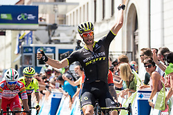 Luka Mezgec (SLO) of Mitchelton - Scott celebrates victory during 2nd Stage of 26th Tour of Slovenia 2019 cycling race between Maribor and Celje (146,3 km), on June 20, 2019 in Slovenia.. Photo by Matic Klansek Velej / Sportida