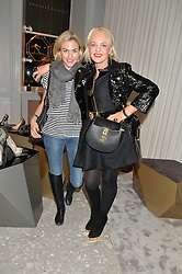 Left to right, SCARLETT RAINER and AMANDA ELIASCH at the Crisian London Boutique Opening at 41-42 Dover Street, London on 18th November 2014.