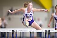 Windsor, Ontario ---2015-03-12--- Zarria Storm of Western University competes in the pentathlon hurdles  at the 2015 CIS Track and Field Championships in Windsor, Ontario, March 12, 2015.<br /> GEOFF ROBINS/ Mundo Sport Images