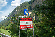 The Swiss, Austrian Border Near Martina. Crossing into Tyrol Austria
