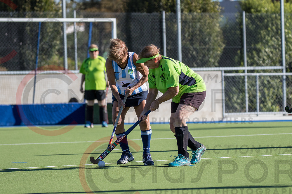 GOLDEN OLDIES FESTIVAL OF SPORT HOCKEY<br /> WINNERS AND SINNERS - MID CANTERBURY IN BETWEENS<br /> 20180416<br /> SARA<br /> Photo SARA CMG SPORT ACTION IMAGES<br /> &copy;cmgsport2018