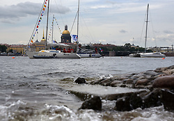 July 8, 2017 - St. Petersburg, Russia - Russia, St. Petersburg, on July 8, 2017. St. Petersburg International sea festival 2017. The sailing regatta has passed on the Neva River, at walls of the Peter and Paul Fortress, within the St. Petersburg International sea festival-2017. (Credit Image: © Andrey Pronin via ZUMA Wire)