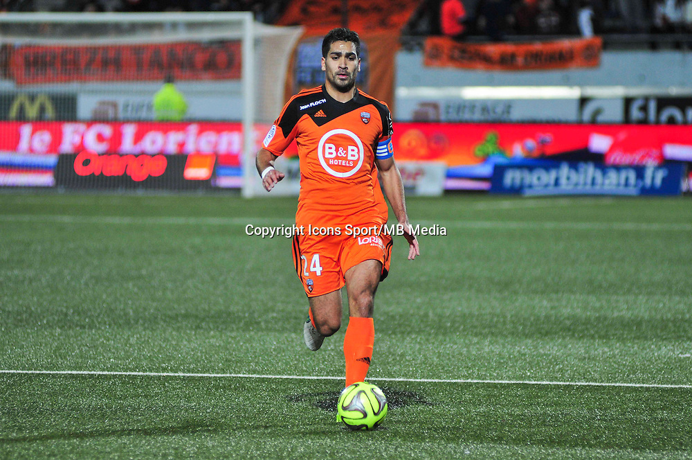 Wesley Lautoa  - 17.01.2015 - Lorient / Lille - 21eme journee de Ligue 1 <br /> Photo : Phillipe Le Brech / Icon Sport