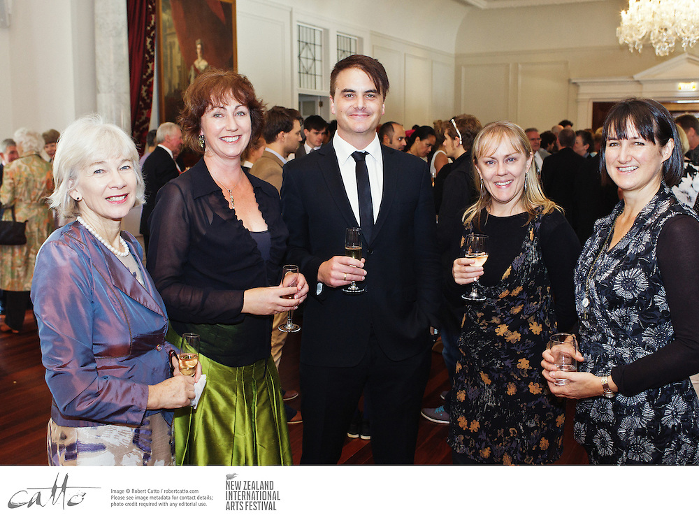 Artists, patrons, staff and friends of the New Zealand International Arts Festival gathered at Government House for a reception.