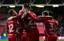 Milan Djuric of Bristol City celebrates with team mates  - Mandatory by-line: Joe Meredith/JMP - 04/02/2017 - FOOTBALL - Ashton Gate - Bristol, England - Bristol City v Rotherham United - Sky Bet Championship