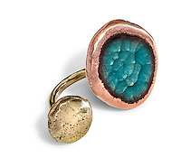 Handmade enamel jewelry by Kiln Design Studio.