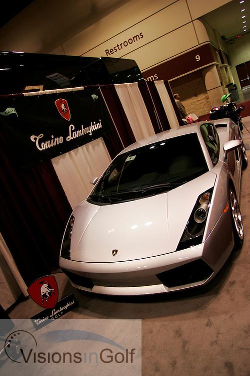 Lamborghini at The PGA Merchandise show January 2005, Orlando, Florida, USA  Photo Mark Newcombe