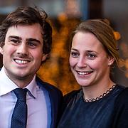 NLD/Amsterdam/20170315 - Inloop verkiezing  schaatser van het jaar 2017, Jan Smeekens en partner Ingeborg Kroon