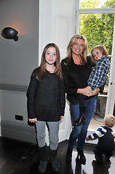 TINA HOBLEY with her daughters BELLA PARKER and OLIVIA PARKER at a children's tea party for the English National Ballet hosted by Mortons Private Members Club, Berkeley Square, London on 20th October 2011.