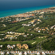 Aerial view of Playa del Carmen. Quintana Roo, Mexico.
