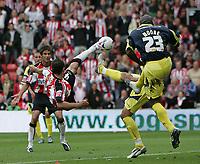 Photo: Lee Earle.<br /> Southampton v Derby County. Coca Cola Championship. Play Off Semi Final, 1st Leg. 12/05/2007.Southampton's Marek Saganowski attempts an overhead kick.