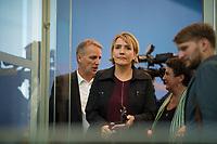 DEU, Deutschland, Germany, Berlin, 16.10.2017: Simone Peter, Parteivorsitzende von B90/Die Grünen, in der Bundespressekonferenz zu den Ergebnissen der Landtagswahlen in Niedersachsen.