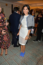 LEILA MALEKI at a the Fortnum's X Frank private view - an instore exhibition of over 60 works from Frank Cohen's collection at Fortnum & Mason, 181 Piccadilly, London on 12th September 2016.