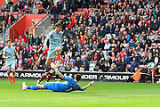 Goal - Alvaro Morata (29) of Chelsea scores a goal to give a 0-3 lead to the away team during the Premier League match between Southampton and Chelsea at the St Mary's Stadium, Southampton, England on 7 October 2018.