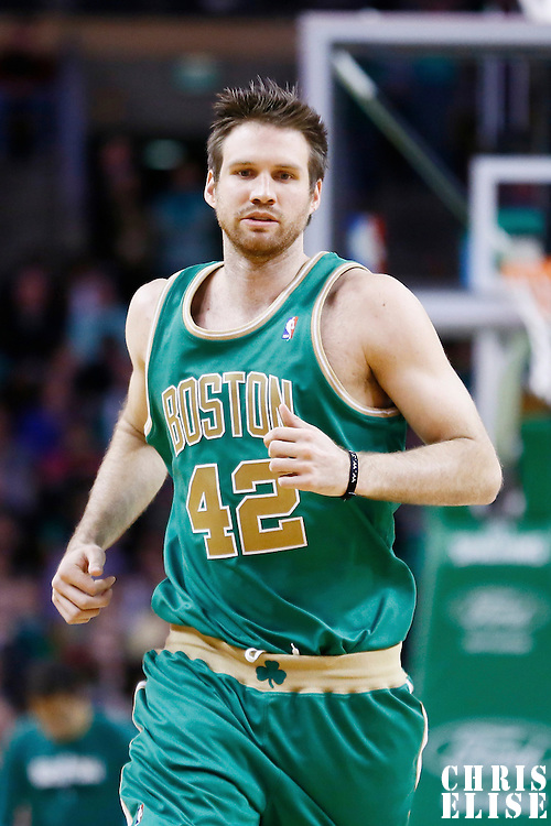 16 March 2013: Boston Celtics power forward Shavlik Randolph (42) is seen during the Boston Celtics 105-88 victory over the Charlotte Bobcats at the TD Garden, Boston, Massachusetts, USA.