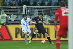 27.11.2014, Stadium Kantrida, Rijeka, CRO, UEFA EL, HNK Rijeka vs FC Standard Liege, Gruppe G, im Bild Andrej Prskalo, Tony Watt // during the UEFA Europa Lduring the UEFA Europa League group G match between HNK Rijeka and FC Standard Liege at the Stadium Kantrida in Rijeka, Croatia on 2014/11/27. EXPA Pictures © 2014, PhotoCredit: EXPA/ Pixsell/ Nel Pavletic<br /> <br /> *****ATTENTION - for AUT, SLO, SUI, SWE, ITA, FRA only*****