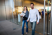 16 MARCH 2012 - SCOTTSDALE, AZ:  Shoppers leave the Apple Store in Scottsdale with their New iPads Friday. Several hundred people were in line at the Apple Store in the Scottsdale Quarter in Scottsdale, AZ, Friday to buy the New iPad.    PHOTO BY JACK KURTZ