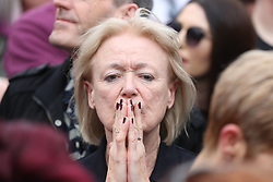 A campaigner listens to the announcement of the final referendum results as Ireland has voted to repeal the 8th Amendment of the Irish Constitution which prohibits abortions unless a mother's life is in danger.