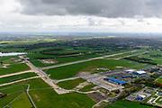 Nederland, Zuid-Holland, Katwijk, 28-04-2017; Marine Vliegkamp Valkenburg. Het voormalige militair vliegveld wordt ontmanteld en krijgt een nieuwe bestemming, woon-, werkgebied, recreatief.<br /> Naval air base Valkenburg. The former military airport is dismantled and will recieve a new destination.<br /> luchtfoto (toeslag op standard tarieven);<br /> aerial photo (additional fee required);<br /> copyright foto/photo Siebe Swart