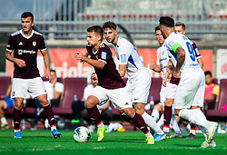 Gašper Udovič of Triglav during football match between NK Triglav and NK Celje in 7th Round of Prva liga Telekom Slovenije 2019/20, on August 25, 2019 in Sports park, Kranj, Slovenia. Photo by Vid Ponikvar / Sportida