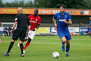 AFC Wimbledon midfielder Anthony Wordsworth (40) dribbling during the Pre-Season Friendly match between AFC Wimbledon and Bristol City at the Cherry Red Records Stadium, Kingston, England on 9 July 2019.