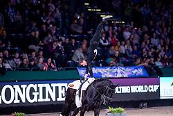 HEILAND Jannik (GER), Dark Beluga<br /> Leipzig - Partner Pferd 2019<br /> FEI Vaulting World Cup<br /> 2. Umlauf<br /> Herren / Male<br /> 19. Januar 2019<br /> © www.sportfotos-lafrentz.de/Stefan Lafrentz