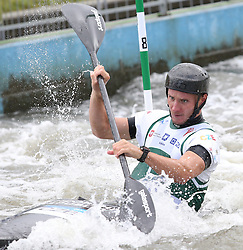 July 1, 2018 - Krakow, Poland - 2018 ICF Canoe Slalom World Cup 2 in Krakow. Day 2. On the picture: VIT PRINDIS (Credit Image: © Damian Klamka via ZUMA Wire)
