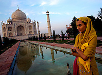 Visitors from all over come to see One of the Wonders of the world, the Taj Mahal in the late India sun Agra india Nov. 16, 2006 Agra India.    (photo by Darren Hauck).......................................