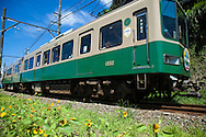 The Enoshima Electric Railway or Enoden connects Kamakura Station in with Fujisawa Station passing along the Shonan Beach coast. Although the train line is only 10 kilometers in length, it is the main line along the Shonan beach scene and a favorite with trainspotters.