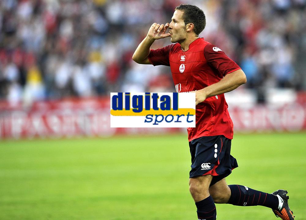 Fotball<br /> Frankrike<br /> Foto: DPPI/Digitalsport<br /> NORWAY ONLY<br /> <br /> FOOTBALL - EUROPA LEAGUE 2009/2010 - THIRD QUALIFYING ROUND - 2ND LEG - 6/08/2009 - LILLE OSC v FK SEVOJNO<br /> <br /> JOY YOHAN CABAYE (LIL) AFTER HIS GOAL